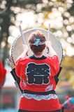 Taiko Drummer Rear View Royalty Free Stock Photos