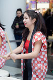 Taiko drummers girls Stock Photography
