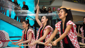 Taiko drummers Royalty Free Stock Images