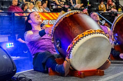 Taiko drummers at Yorkshire Cosplay Con Royalty Free Stock Photo