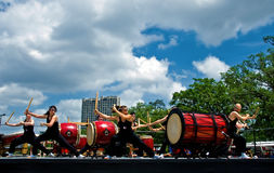 Taiko performance outdoor Royalty Free Stock Photography