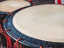 Taiko trummar nolla-kedo på platsbakgrund Musikinstrument av Asien royaltyfri bild