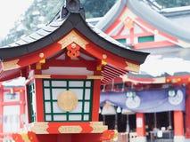 Taikodaniinari świątynia Ja jest główną atrakcją turyści które zamierzają odwiedzać gdy przychodzą tsuwano obrazy stock