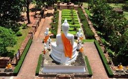 Tailândia Ayutthaya Wat Yai Chai Mongkhon Imagem de Stock Royalty Free