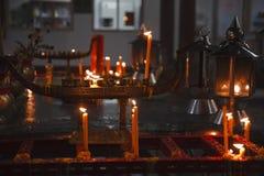 Tailândia, Banguecoque, templo budista Foto de Stock Royalty Free