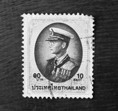 Tailândia - CERCA de 1997: Um selo impresso em Tailândia mostra projetos iniciados reais, cerca de 1997 Imagens de Stock Royalty Free