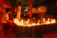 Tailândia comemora o aniversário do rei Fotos de Stock Royalty Free