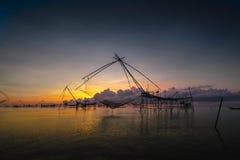 Tailândia de pesca líquida fotografia de stock