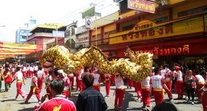Tailândia: Dragon Dance Festival Fotografia de Stock Royalty Free