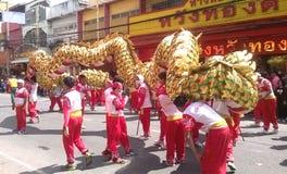 Tailândia: Dragon Dance Festival Imagem de Stock Royalty Free