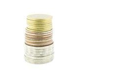 Tailândia inventa o dinheiro em um fundo branco fotos de stock