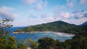 Tailândia, Ko Tao Lookout, paisagem, ponto de vista, praia de Chalok fotografia de stock royalty free