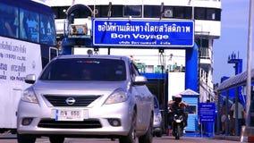 tailândia Koh Samui 30 de julho de 2014 Carros e video estoque