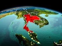 Tailândia na terra do planeta no espaço ilustração royalty free