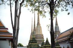 Tailândia, o 1º de janeiro de 2019: Wat Phra Chetuphon Mangklarama melhora - sabido como Wat Pho Stupas de Wat Pho Wat Pho é um t imagem de stock