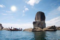 Tailândia, parque nacional Ta Ru Tao. Koh Hin Sorn. imagens de stock