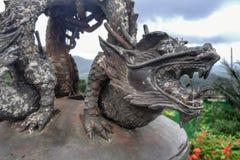 Tailândia - pouco dragão de bronze Fotografia de Stock Royalty Free