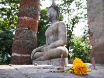 Tailândia reza para a Buda Fotografia de Stock