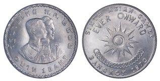 Tailândia um memorial da moeda do baht para 6os Jogos Asiáticos em Banguecoque, Imagens de Stock