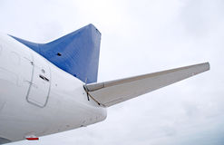 Tail of aircraft. Picture of aircraft tail part stock image