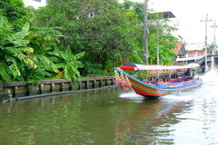 Tail boat on canal Stock Image