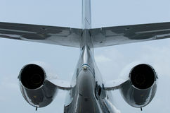 Tail of business jet Stock Photography