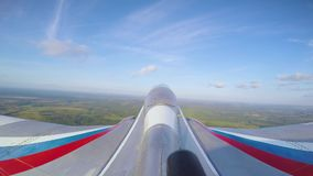 Tail camera on jet stock video footage