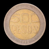 Tail of a 500 colombian pesos coin, issued in 2000 Royalty Free Stock Photography