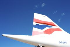 Tail of Concorde Royalty Free Stock Photo