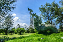 TAIL OF DRAGON. THIS LOCATED AT SONGKHLA THAILAND, THE CAPITAL. LANDMARK Royalty Free Stock Image