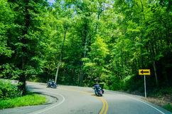 Tail of the dragon scenic road in great smoky  mountains Stock Images