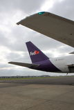 Tail of Fedex jet Stock Photo
