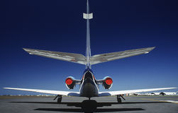 Tail fin of airplane back view Royalty Free Stock Photography