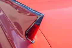 Tail fin of vintage car Stock Photo
