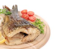 The tail of fried fish Royalty Free Stock Photos