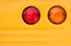 Tail lamp of school bus Royalty Free Stock Image