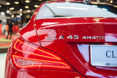 Tail lamps of Mercedes-Benz CLA45 AMG at the Singapore Motorshow 2015 Stock Photo
