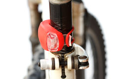 Tail light of bicycle Royalty Free Stock Photos
