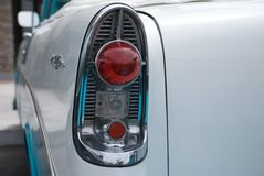 Tail Light of Classic 1956 Convertible Stock Images