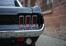 Tail Light of Mustang GT 1968 Stock Images