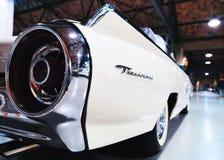 Tail light of white Retro car Pontiac Thenderbird stock photography