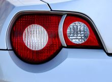 Tail lights. Of an exotic sports car, detail stock images