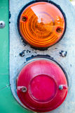 Tail lights of antique car. The old tail lights of antique car stock photography