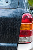 The tail lights of the car are dirty. Royalty Free Stock Photography