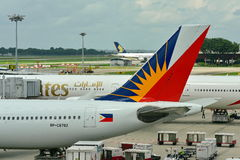 Tail of Philippines Airlines Airbus 330 Royalty Free Stock Photography