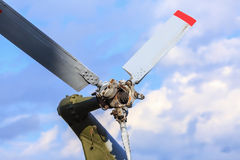 Tail propeller helicopter Stock Image