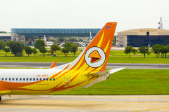 Tail Section Nok Air Airplane Taxiing Don Mueang H Stock Photography