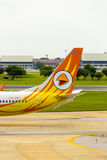 Tail Section Nok Air Airplane Taxiing Don Mueang V Royalty Free Stock Image