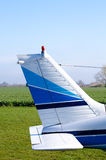 Tail small airplane Stock Photo