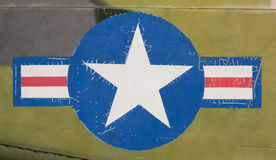 Tail of Vietnam war Airplane Stock Image